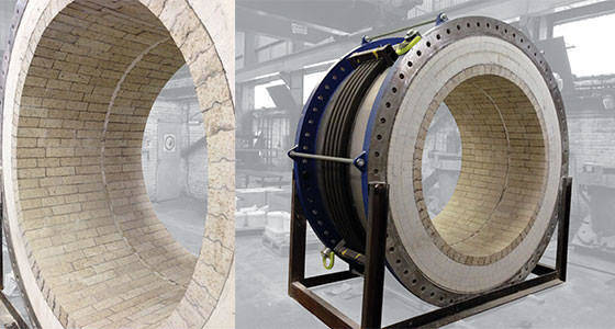 Expansion joint for high temperature gas